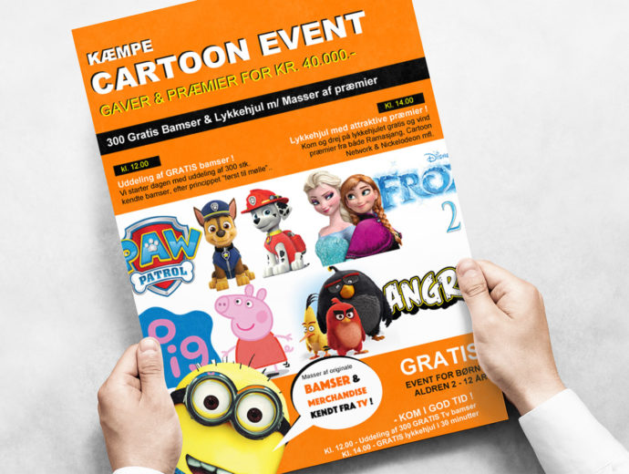 Kæmpe Cartoon Event
